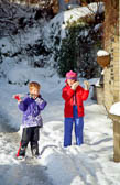 Brother & Sister Playing Icicles -001